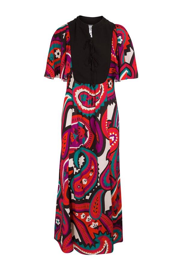 Vestido Kaftan Flores